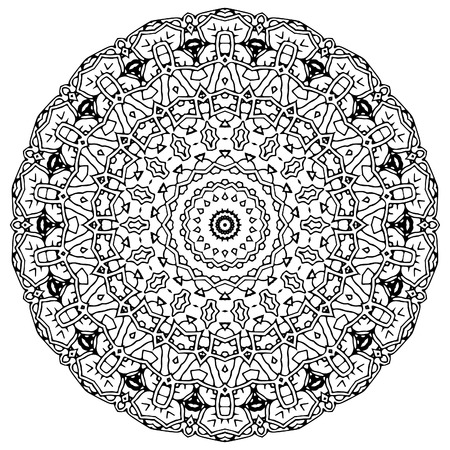 complex and beautiful vector mandala art for tattoo and coloring book