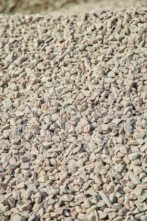 Breakstone background, a pile of crushed stone. 写真素材