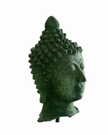cabeza de buda: cabeza de Buda verde