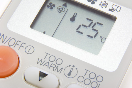 Set temperature at 25 degree on remote control air condition