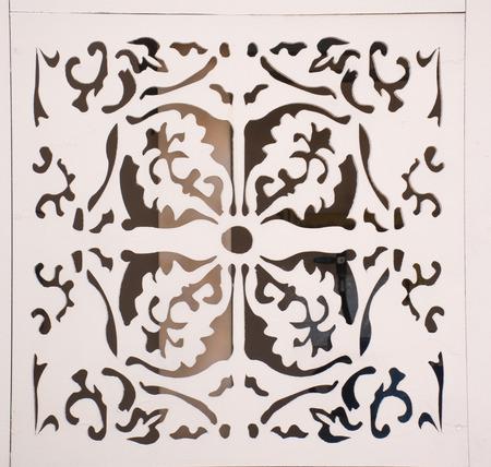 latticework: wood perforated design