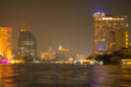 the chao phraya river: Abstract blur chao phraya river Bangkok Thailand background