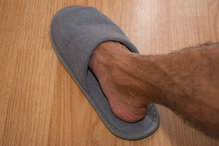 slipper: Foot in slipper