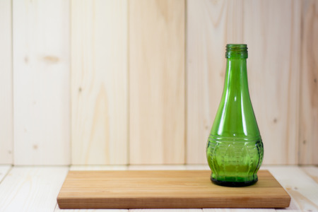 splat: green glass bottles on splat.