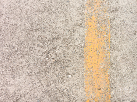yellow line: Concrete floor with yellow line