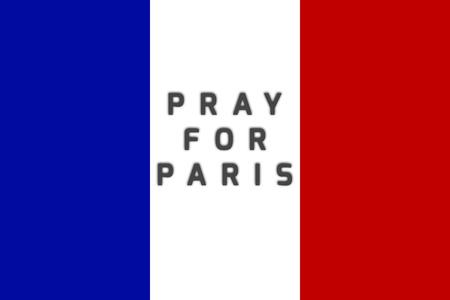 victims: Pray for Paris. national state flag of France. Pray for Paris. 13 November 2015. Paris horror on Friday thirteen. Terrorist attack. Pray for victims. Peace. No war.