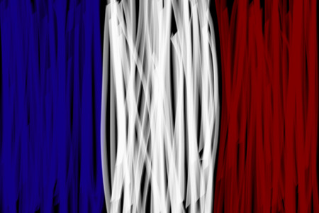 freehand drawing: france flag freehand drawing Illustration