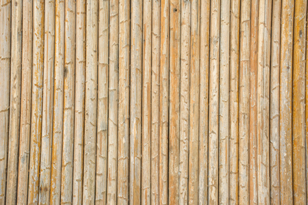 close up decorative old Bamboo wall use for background or texture.
