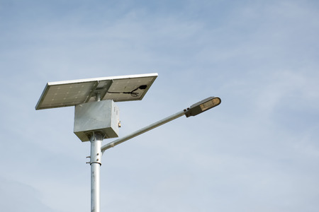 lamp pole with solar panel