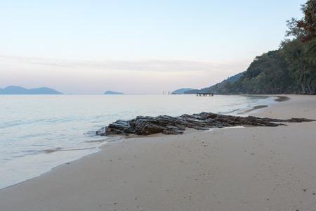 Beautiful tropical beach in the evening at koh wai island, Trat, Thailand.