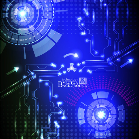 telecoms: Hi-tech digital technology and engineering, digital telecoms technology concept, Abstract futuristic- technology on blue color background Illustration