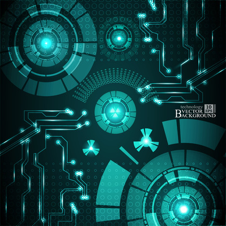 telecoms: Hi-tech digital technology and engineering, digital telecoms technology concept, Abstract futuristic- technology on turquoise color background.Vector Illustration