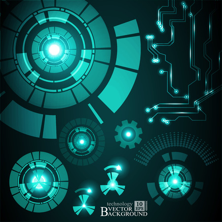 telecoms: Hi-tech digital technology and engineering, digital telecoms technology concept, Abstract futuristic- technology on turquoise color background. Vector Illustration