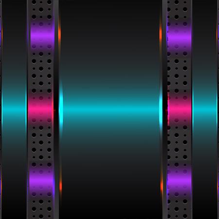 metallic background: Hi-Tech Metallic Background Vector Design Illustration