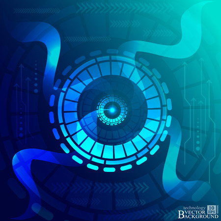telecoms: Digital technology and engineering, digital telecoms technology concept, Abstract futuristic- technology on blue color background. Vector Illustration