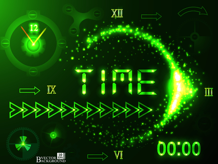 turn dial: Time concept abstract technology background design