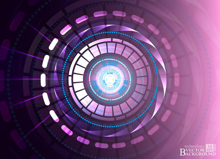 telecoms: Digital technology and engineering, digital telecoms technology concept, Abstract futuristic- technology on purple color background. Vector Illustration