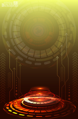 telecoms: Digital technology and engineering, digital telecoms technology concept, Abstract futuristic- technology on red color background. Vector