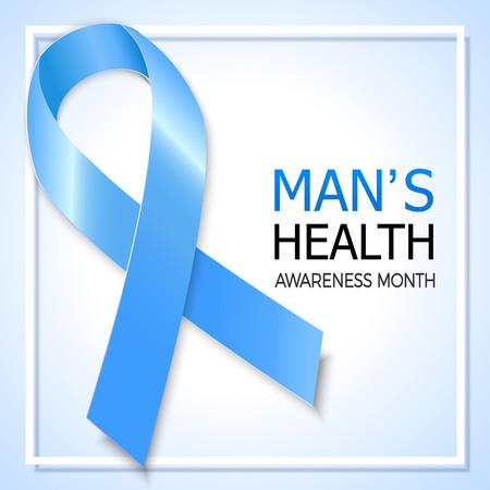 Prostate cancer awareness banner. Illustration