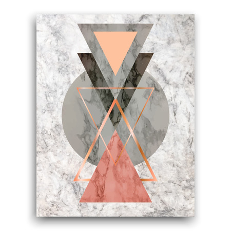 Marble background with triangles. Geometric print for your card, template, business, brochure. Trendy poster for textile, fabric, web, wallpaper, poster, home design office design Vector