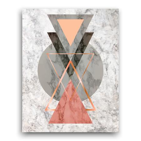 Marmorhintergrund mit Dreiecken. Geometrischer Druck für Ihre Karte, Schablone, Geschäft, Broschüre. Modisches Plakat für Gewebe, Gewebe, Netz, Tapete, Plakat, Innenarchitekturbürodesign Vektor Standard-Bild - 93328604