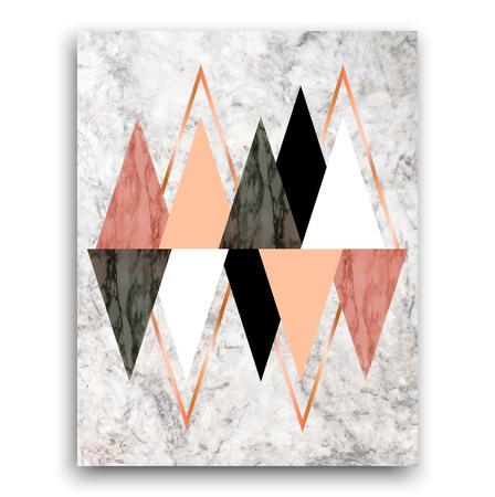 Marble background with triangles. Geometric print for your card, template, business, brochure.