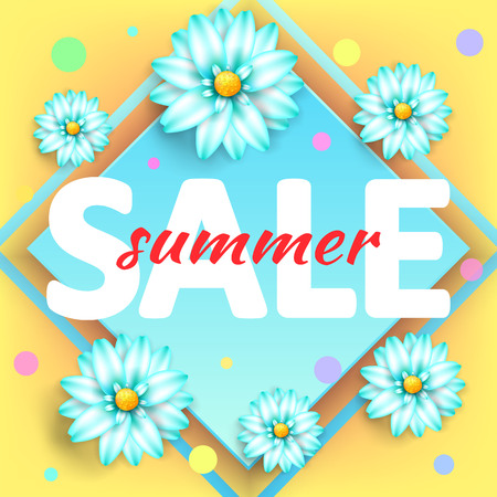 Summer sale background layout banners. Voucher discount. Vector illustration template