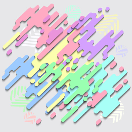 Modern style abstraction pastel color with composition made of various rounded shapes in color. Vector illustration