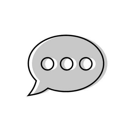 Speech bubble icon. Vector illustration
