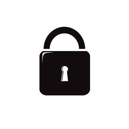 Lock black vecton illustration icon Imagens - 119765385