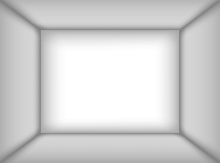 Empty white room. The inner space of the box. Mock up for you business project. Vector illustration