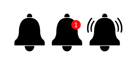 Notification icon. Vector bell icons