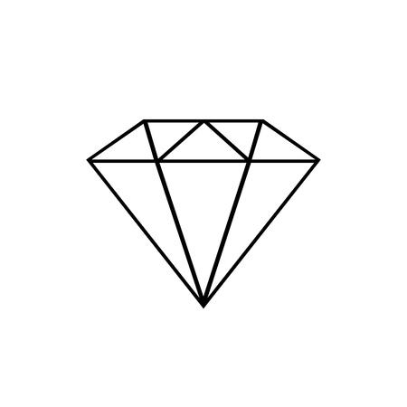 Diamond line icon. Gemstone symbol Vector Illustration