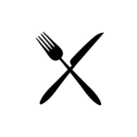 Fork and knife icon vector. Eat symbol. Vector Stock Vector - 119766798