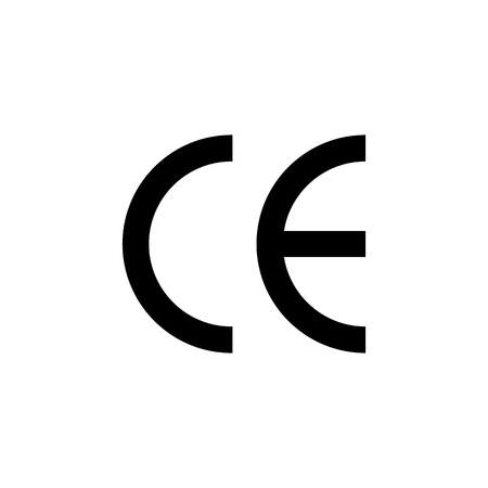 CE mark vector symbol. CE symbol icon.