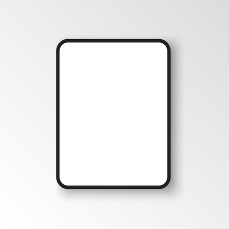 iPad Pro with 12.9-inch display, 2018. Template black frame with shadow. Vector illustration