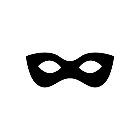 Black anonymous mask vector icon isolated on white background