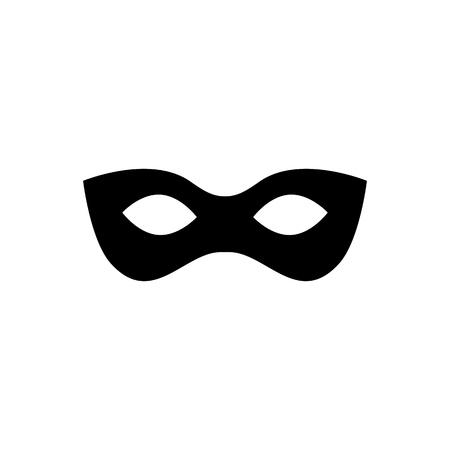 Black anonymous mask vector icon isolated on white background Illustration