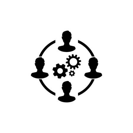 Business collaborate icon vector image