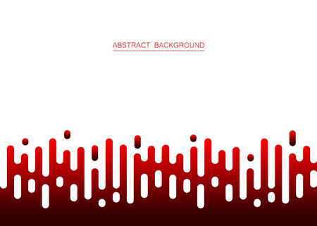 Abstract of red color stripe lines pattern background, vector illustration Illustration