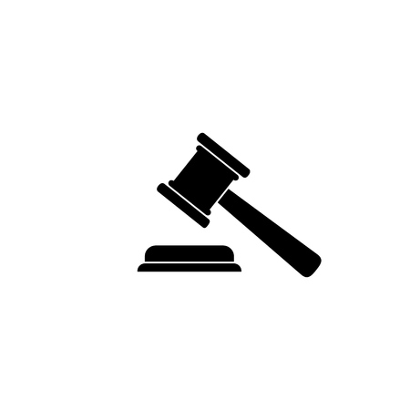 Judgement  Justice icon in trendy flat style. Vector Illustration  イラスト・ベクター素材