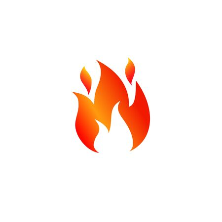 Fire icon. Flame sign icon - stock vector