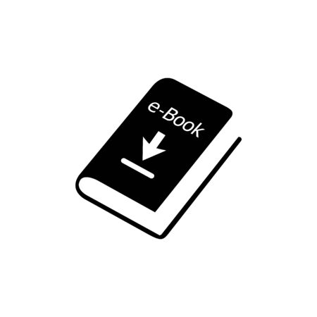 E-Book, Stationery Education Icon Vector Template