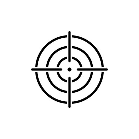 Target icon symbol vector on white background