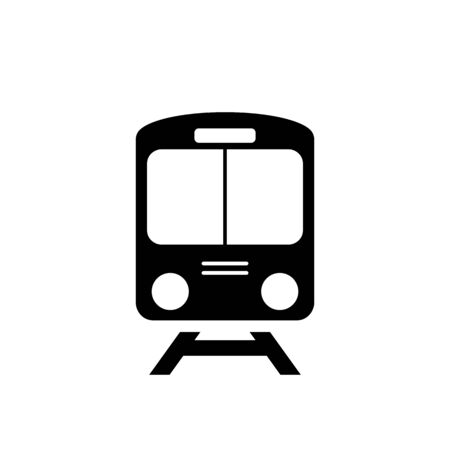 Train icon symbol vector on white background