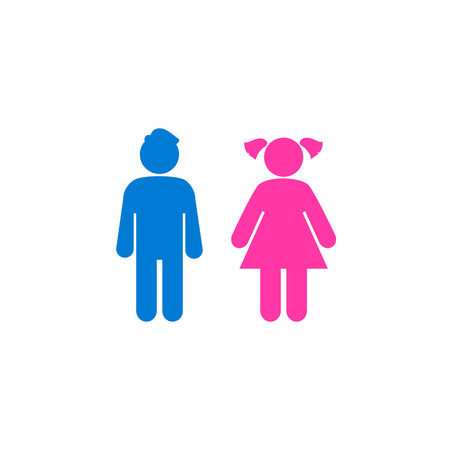 Vector girl and boy Icon illustration