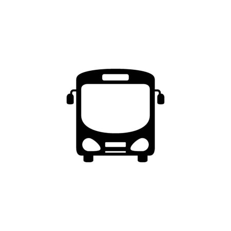 Bus icon symbol vector on white Ilustracja