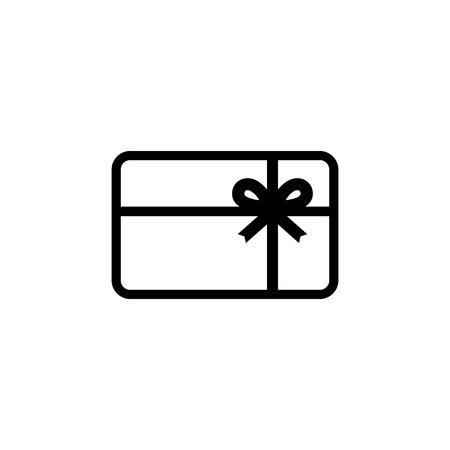 Gift card icon. Vector