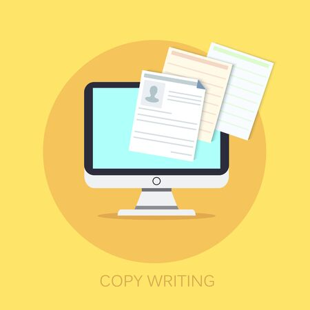 Documents  icon - vector copy documents Illustration isolated for graphic and web design with copy writing Illustration