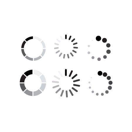 Load icon vector. Set icon buffer and loading symbol Çizim